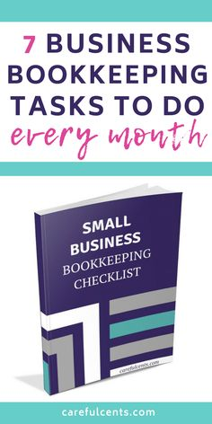 business finance Free Small Business Bookkeeping Checklist for Beginners -- find out the bookkeeping tasks and tips to do every month to stay organized! Small Business Bookkeeping, Bookkeeping And Accounting, Small Business Accounting, Business Analyst, Business Entrepreneur, Business Marketing, Media Marketing, Business Education, Sage Accounting