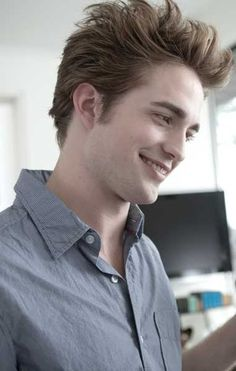 Edward Cullen ... I mean Robert Pattinson. He looks better pale.
