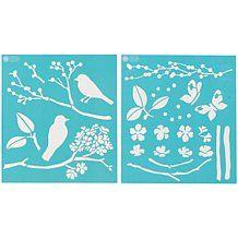 Martha Stewart Crafts® Medium Stencils - Birds/Berries