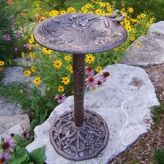 Bird Bath On Pinterest Bird Baths Bird Bath Fountain