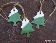 these handmade ceramic christmas tree decorations by Angry Pixie will be on sale soon!