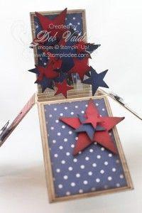 www.stampladee.com 911 God Bless America with Deb Valder #cardinabox #stampladee #stampinup #patriotic