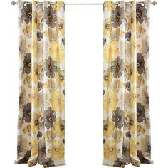 Cafferata Nature/Floral Room Darkening Thermal Grommet Curtain Panels