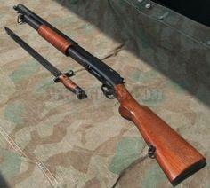 "Winchester 1897 12 ga ""Trench Gun"" circa WW1 w/ bayonet, aka the ""Trench Broom"""