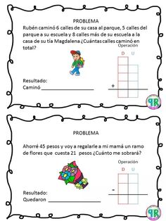 Problemas para I grado | Profe Yano Math 2, 2nd Grade Math, Math Class, Second Grade, Maths Sums, Professor, Maila, Primary Education, Sistema Solar