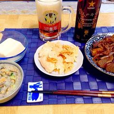 ビアホールの日をサッポロがビール愛好家と共同で開発限定ビールと - 38件のもぐもぐ - 茄子の味噌田楽風炒め煮・チーズクリスプ・奴の特製タレ掛け by Tarou  Masayuki