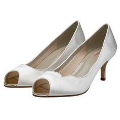Ellen - Mid-Height Peep Toe Wedding Shoes