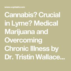 Cannabis? Crucial in Lyme? Medical Marijuana and Overcoming Chronic Illness by Dr. Tristin Wallace - Sophia Health Institute