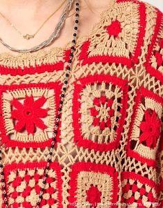 ergahandmade: Crochet Blouse With Motifs