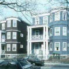 Triple decker ( deckah's) houses.