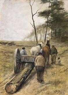1838 – Anton Mauve, Dutch painter (d. 1888) | Anton Mauve Biography, Works of Art, Auction Results | Artfact