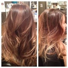Balayage highlights with long layers <3 By Stylist Leah Villagran