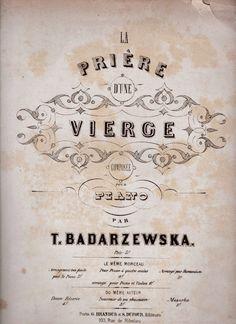 carlomusical: TECLA (Tekla) BADARZESKA, compie 180 anni ( Varsav...