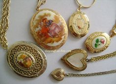 12 Pcs Lot of Vtg Jewelry Accessories Gold Tone by lizystuff, $159.99
