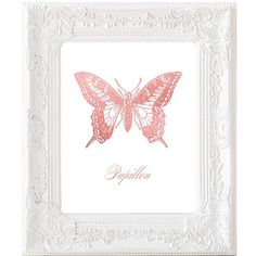 Rose Gold Foil Butterfly Papillon Print Nursery by Suselis on Etsy