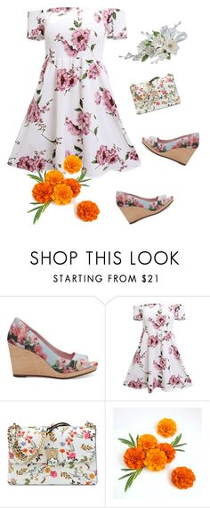 """""""floral shoes"""" by the-vintage-palace2016 ❤ liked on Polyvore featuring TOMS and Nine West"""