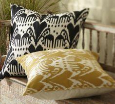 Kasari Ikat Embroidered Pillow Cover | Pottery Barn $59.90