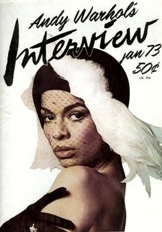 Bianca Jagger on the cover of Andy Warhol's Interview