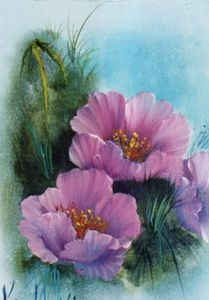 bob ross painting flowers - Google Search  WoW..pretty!  I've never seen him paint flowers...