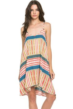 Printed cami dress Model is wearing a small 100% polyester