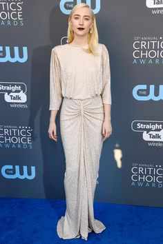 All the Gorgeous 2018 Critics' Choice Awards Red Carpet Arrivals - Saoirse Ronan from InStyle.com