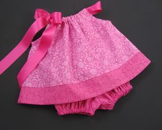 Infant+Pink+Pillowcase+Dress+with+Bloomers++Sizes+by+dreambirds,+$34.00