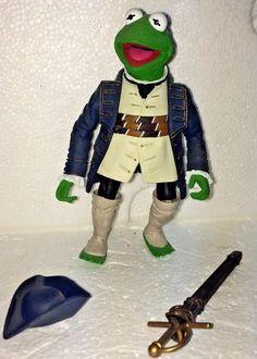 Captain Abraham Smollet Kermit The Muppets Palisades Series 7 Action Figure  #Palisades
