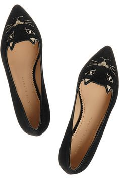 886dcc7554ba4 charlotte olympia kitty flats - Google Search Velvet Shoes