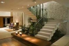 Glasgeländer Treppe moderne gestaltung