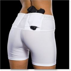 This pair of Undertech concealment shorts is the perfect way for women to carry and conceal a handgun when wearing a skirt or pants.