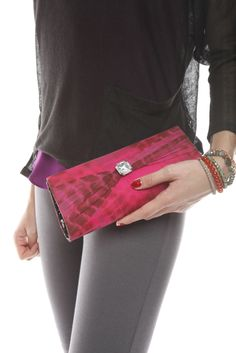 Gorgeous Tie-Dye Silk Clutch