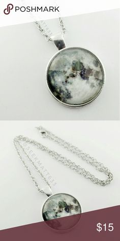 Moon 🌜 Silver Necklace Galaxy, Space, Universe, Solar System, Nebula, Stars, Earth   *Brand New! Never Used!   (Just out of package only for these photos) *Makes a great gift! *Remind yourself or someone else of the handiwork of the God of the universe! Psalm 8:3-4  Silver Tone, Silver Necklace, Silver Moon Necklace, Space, Silver Christian Necklace, Moon Jewelry, Faith, Fashion Necklace, Spiritual, Gift for Her, Christian, Gift, Scripture, Bible Verse Necklace, Motivational Necklace…