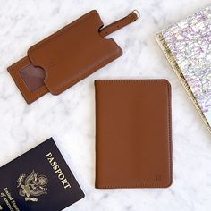 Cathy Personalized Passport Holder & Luggage Tag Set (A)