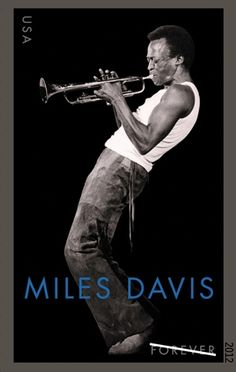 US Postal Service to issue a Miles Davis stamp. This photograph is from the cover of one of my personal favorite albums, Tribute to Jack Johnson. Great pic-awesome music!