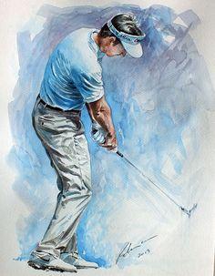 Gonzalo Fernandez Castano watercolor by Mark Robinson