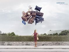 Print advertisement created by Ruf Lanz, Switzerland for Welti-Furrer, within the category: Professional Services. Creative Advertising, Advertising Poster, Home Appliance Store, Lion Print, Copywriter, Simple Prints, Ad Design, Graphic Design, Fashion Sewing