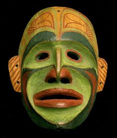 Northwest Coast Bella Bella  Ceremonial Mask