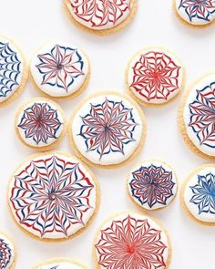 These fanciful fireworks cookies are surprisingly easy to ice.