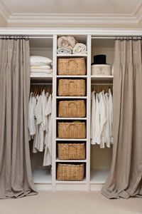 Office closet - close off with curtains.                                                                                                                                                     More