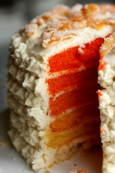 Food: Ten Lovely Cakes To Bake  (via How to make an ombre cake: How lovely! :at Better With Butter)
