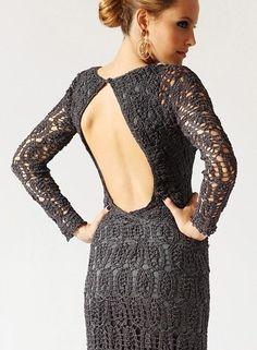 Crochetemoda: Vestido de Crochet Giovana Dias