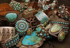 I love these Bohemian  turquoise bracelets!