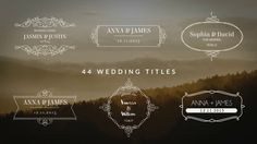FREE Wedding Titles Intro After Effects | Download https://youtu.be/bMLD1uJdZ1A