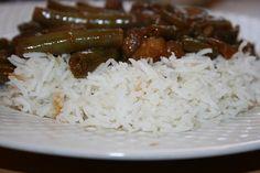 Babi Ketjap met witte rijst en sperziebonen recept - Es' Factory