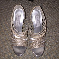"""Gold/silver sequin Touch-Ups heels Size 5, gold/silver sequins, 4.5"""" heel with 1"""" platform, super comfortable, will ship with original box, look BRAND NEW Shoes Heels"""