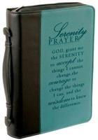 Bible Cover - M Serenity Prayer Black/Aqua Medium / Bible Cover   WORD Bookstores