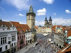 Old Town Square, Prague, Czech Republic.  Looks like a fairy tale in person as much as it does here!
