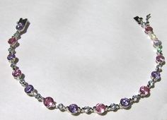 Vintage 9 Ct Pink Lavender and Clear Round by InVogueJewelry, $36.00