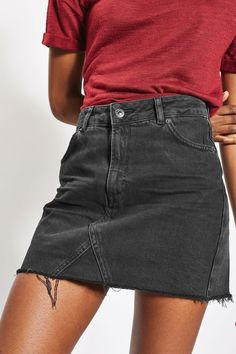 MOTO Denim Mini Skirt