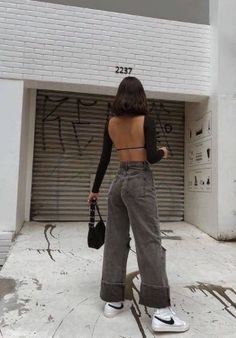 Street Style: Vaccination Outfit Looks Street Style, Looks Style, My Style, Retro Outfits, Cute Casual Outfits, Summer Outfits, 40s Mode, Mode Hipster, Looks Teen